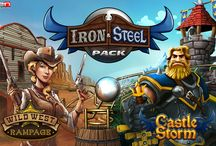 Iron & Steel Pinball Pack / Sparks (and bullets) fly in the Iron & Steel Pack, bringing two new original tables, CastleStorm and Wild West Rampage, to Zen's pinball platforms!