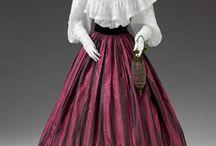 Suknie 1850-1855