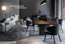 Minotti special 9 pages ad campaign in Oct wallpaper magazine