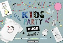 KIDS design inspiration / Here are all my favourite Kids graphics and designs