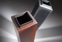 Vázy/Vases BĚHAL DESIGN / vázy z oceli - steel vases
