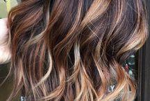 Highlights medium hair