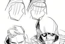 superheroes sketches