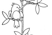 pájaros bordados