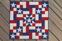 Red, White and Blue / Quilts of Valor, Americana and other Red, White and Blue quilt items.