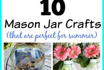 Mason Jar crafts / Mason jar crafts and all kinds of creative DIY's.  Includes amazing tutorials and wonderful ideas.  Who knew you could do this with a jar?