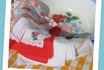 Vintage Hankies, Linens and Sheets / by Barbara Hartmann