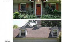 Outdoor Spaces // Home Exteriors, Porches, & Patios / Home exteriors and outdoor entertaining areas — patios & porches / by Kristen Burnett