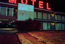 motels and neon lights