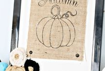 Burlap Ideas / by Hello I Live Here