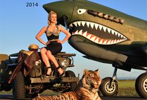 Warbird Pinup Girls 2014 / Warbird Pinup Girls 2014 Calendar. #WWII #WW2 #Ilovemysoldier #army #navy #marine #airforce #specialforces #armywife #armygirlfriend #airforcewife #airforcegirlfriend #marinewife #marinegirlfriend #navywife #navygirlfriend #warbird #pinup #pinupgirls #esquire #steampunk #marilynmonroe #ditavontease #1940s #planes #aviation #C47 #PT17 #T6Texan #B25Mitchell #P40NKittyhawk #P51DMustang #B17FlyingFortress
