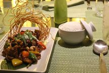 Benjarong Dishes / A collection of Benjarong dishes in Dusit Thani Abu Dhabi hotel.