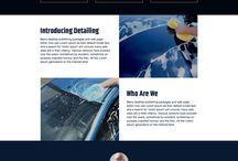 car wash landing page design