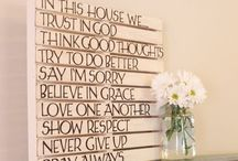 Home D / Home decorations, DIY, etc.  / by Sasa