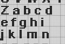 Krížikové vyšívanie-abededa,čísla