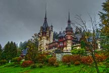 Peles Castle / The magnificent Peles Castles, with its fairytale turrets and pointed towers rising above acres of green meadows sprinkled with haystacks, was built as a summer residence by Romania's longest serving monarch, King Carol I, who died and was buried here in 1914, just months after the castle's completion.Peles Castle was the first castle in Europe to have central heating and electricity.