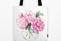 Society6 Products / Floral and nature art prints, framed art, iphone cases, tote bags, mugs, clocks, cards, and pouches
