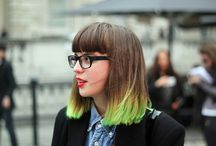 Bold and Bright / Inspiration for bold hair colors