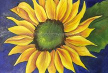 Flowers / Hand painted blooms and blossoms by Artist Connie Maness of Chic Country Sisters