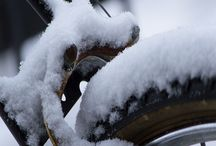 #winter #bicycle #love /  Hope Photography