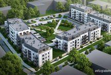 Residential complex - BARCIŃSKI PARK / Ostatni etap osiedla Barciński Park obejmuje dwa budynki pięciokondygnacyjne i jeden czterokondygnacyjny, liczące łącznie 134 mieszkania. Przestronne apartamenty z tarasami zlokalizowane na dachach ostatnich kondygnacji to jeden z największych atutów tej inwestycji.