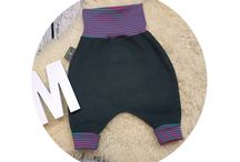 Mitwachshosen / handmade - die Hosen sind super bequem und passen ewig. Die dürfen in keinem Babykleiderschrank fehlen.