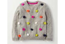 Pulls et tricots rigolos pour enfants / Pulls colorés, gilets en laine, tricots rigolos, les jolis vêtements pour enfants. Joie de vivre et tendances enfantine pour filles et garçons.