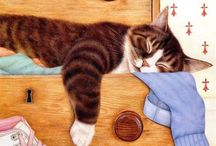Chrissie Snelling Cat Art