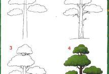 sketchbook trees