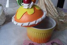 Cupcake / Dolci realizzati a mano in Gomma crepla