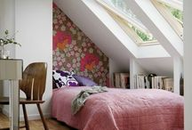bautiful small bedroom with windows roof