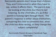 narcissistic parent / by Crystal Amber