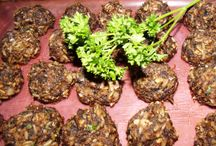 """Meatless Balls, Burgers, Hummus, Patties, Paté, Spreads, Dips / Fakin it good... sometimes we are asked """"But what do you do for protein?  How do you get your protein?""""  These are a FEW of the ways... (**please note that some of the recipes contain dairy so this is not strictly vegan... although it started out to be)"""