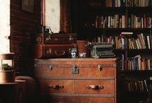 Interiors: Traditional Gent / Elegant and classy interior spaces, furniture and accessories you might expect to find in a gentleman's private study. The original Man Cave!
