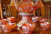 Orange Carnival glass