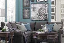 Ideas for Family Room / Gray Sofa