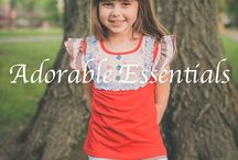 Adorable Essentials Website / Affordable, cute essentials made to match upscale items. Clothes for pictures or the playground! Stocked and ready to ship! Free US Shipping.  Order directly on our site at www.adorableessentials.com
