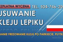 Usuwanie kleju z podłogi, cena, tel. 504-746-203. Subitu, lepiku z posadzki, Wrocław.