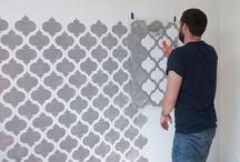 Wohnung dekorative Maler