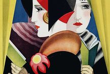 20's, 30's, Art Deco, illustration