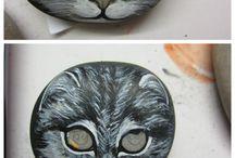 Katze schrittweise gemalt