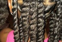 baby girl's hair