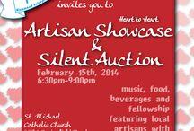 Heart to Heart Artisan Showcase & Silent Auction / February 15, 2014 St Michael Catholic Church 4491 Springfield Rd, Glen Allen 6:30-9pm