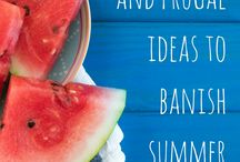 Summer Fun on a Budget / Fun & frugal Summer vacation ideas to fight your children's boredom!