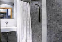 Perfect shower for a small bathroom and modern toilette