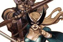 Mockingbird & Ex Husband Hawkeye / by Gotaway 483