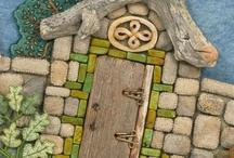 рисунки на камнях / домики на камнях