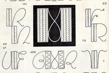 Monograms & Typefaces / Embroidery & needlework