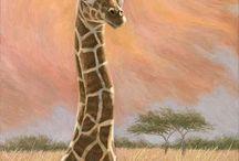 Giraffe tekening