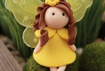 Art - Faires - Polymer Clay / Faires, gnomes, fairy doors using polymer clay